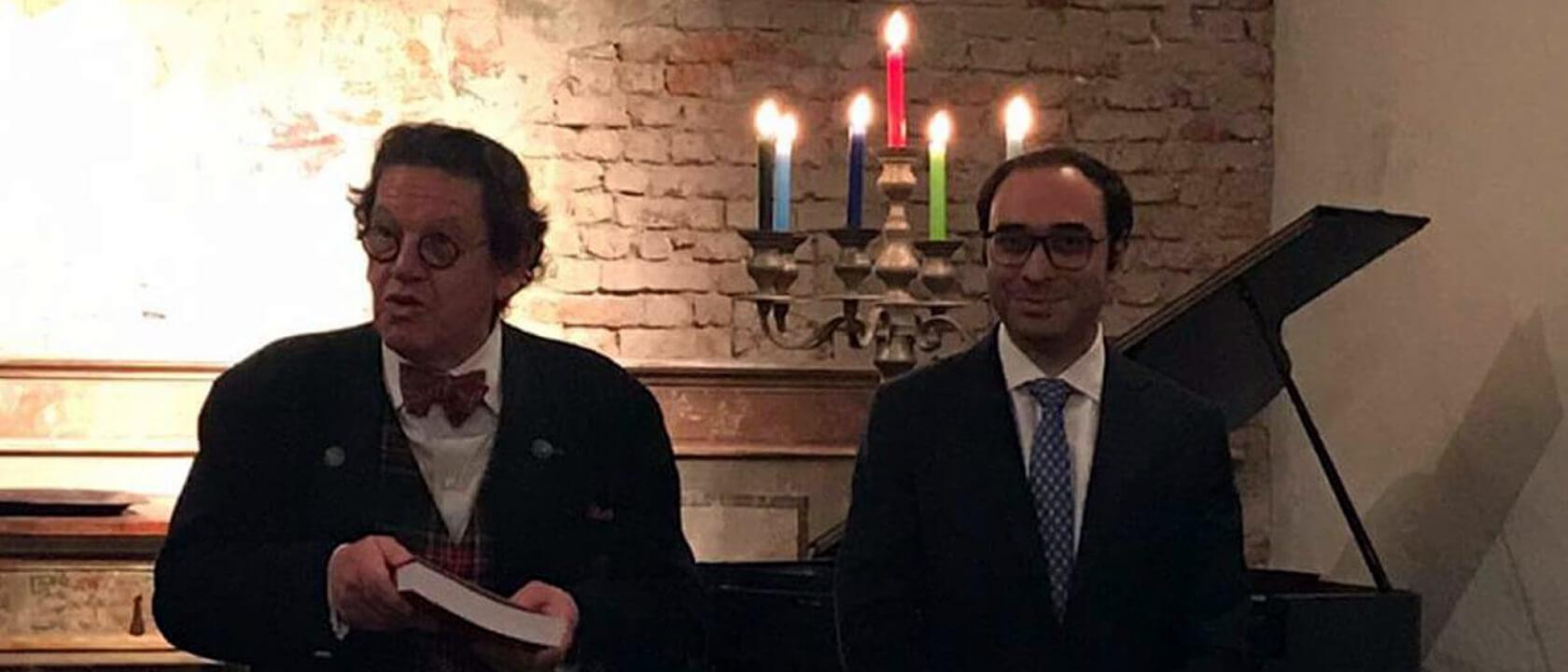 """Andrea Cotticelli ha presentato a Milano con Philippe Daverio il libro """"Beatrice Orsini Sacchetti"""""""