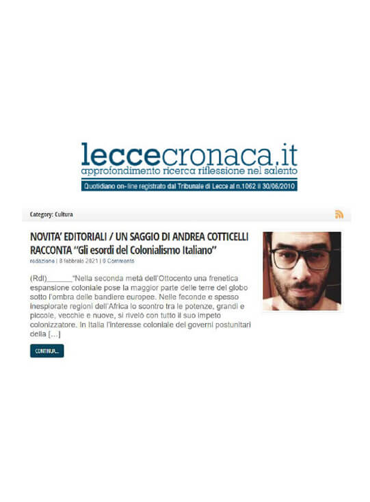 Lecce Cronaca, 8 Febbraio 2021