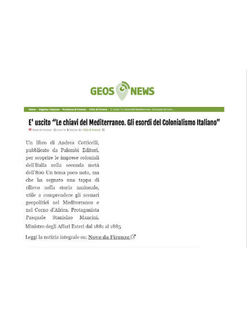 Geos News, 29 Gennaio 2021